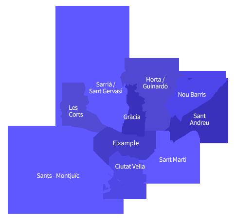 Mapa districtes